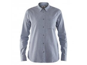 7323450402495 SS18 a oevik chambray shirt ls w fjaellraeven 21