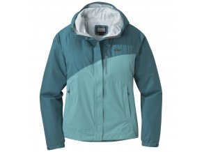 OUTDOOR RESEARCH Women's Panorama Point Jacket, Washedpeacock Herringbone/Seaglass (velikost XL)