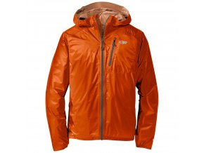 OUTDOOR RESEARCH Men's Helium II Jacket, Ember/Charcoal (velikost S)