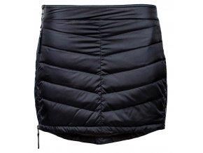 SKHOOP Prošívaná zimní péřová sukně Down Mini, černá