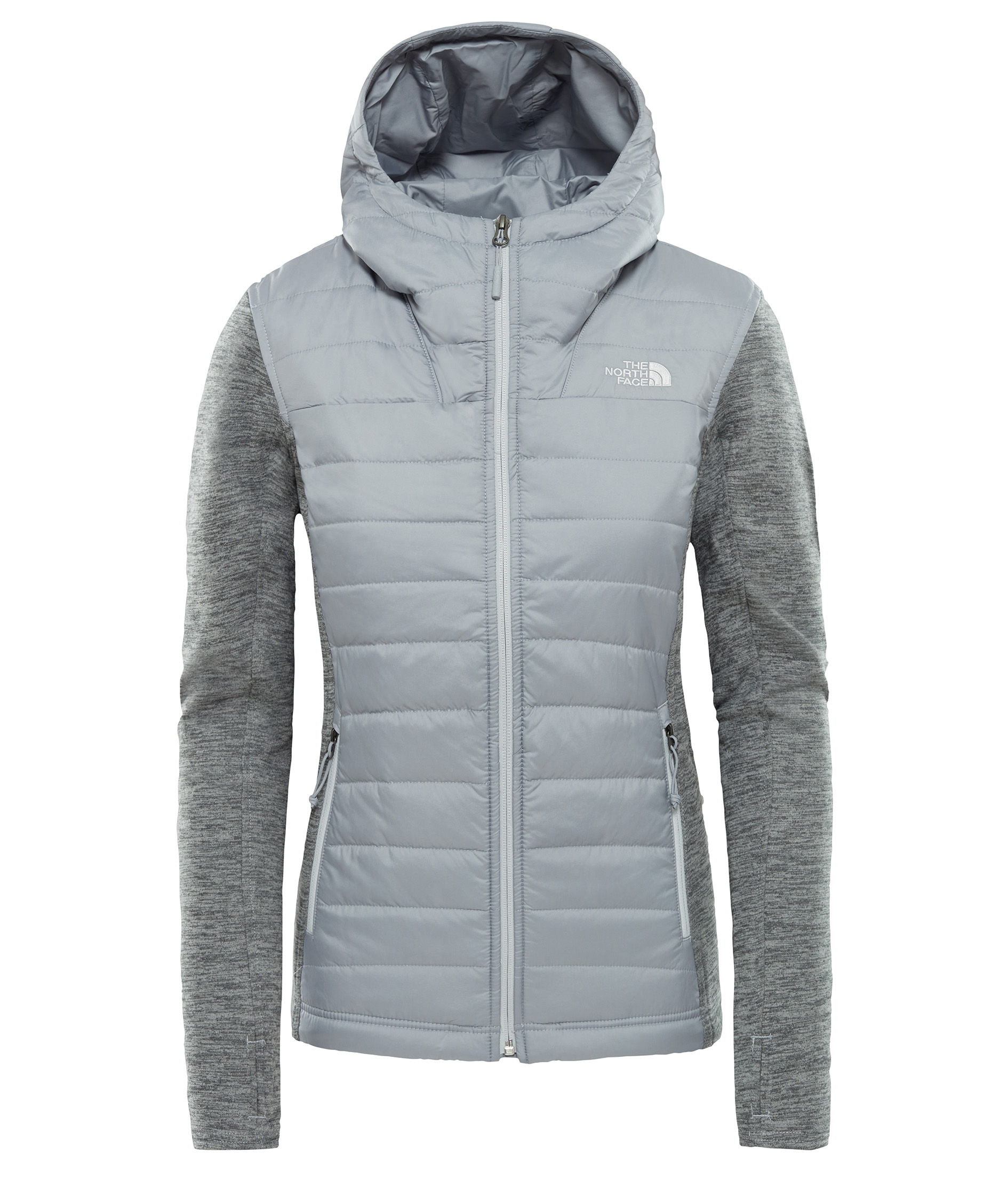 THE NORTH FACE W MASHUP HOODIE, MID GREY/TNF ME velikost: M