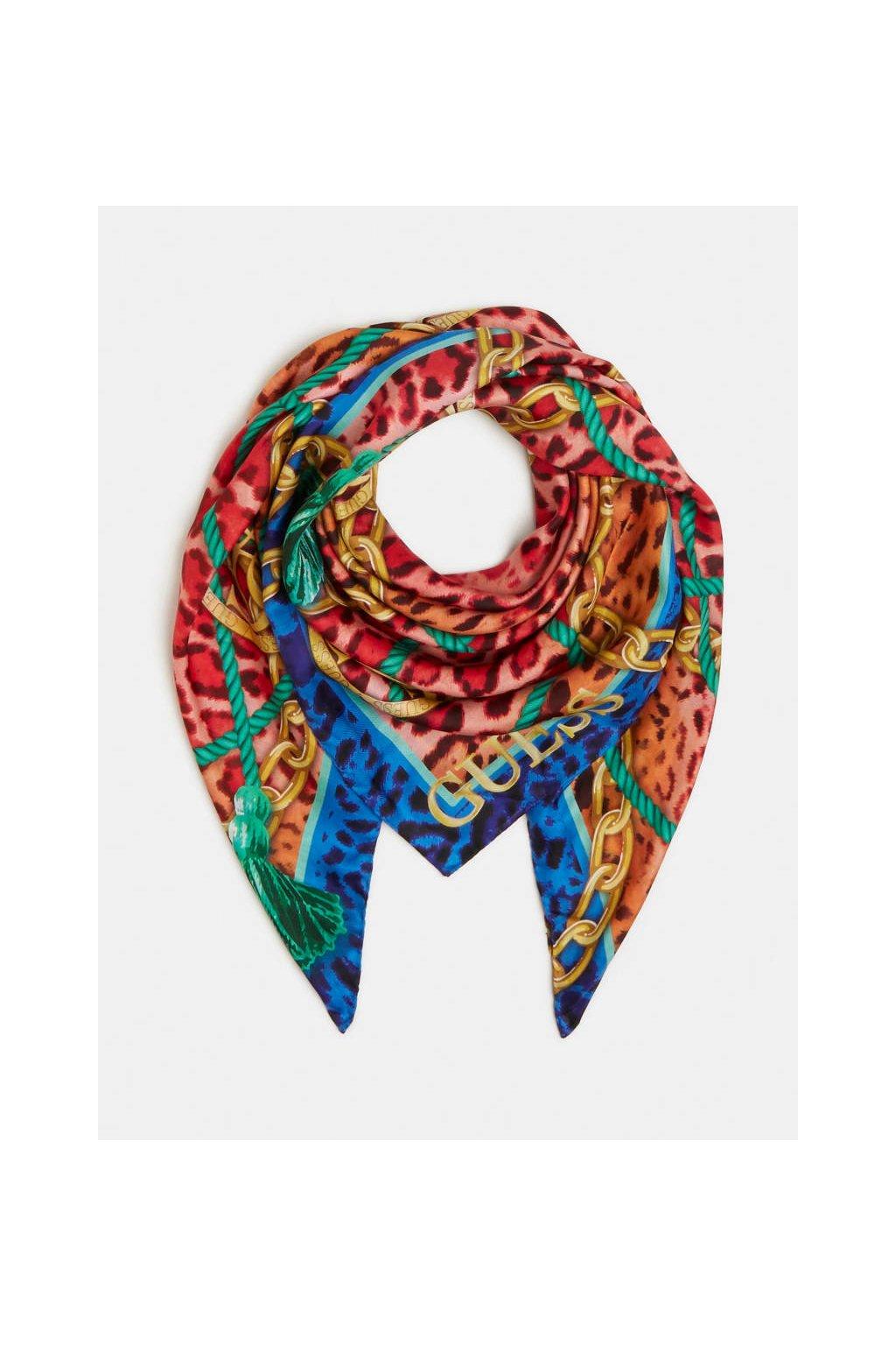 Dámský šátek Guess AW8618SIL90-BLU