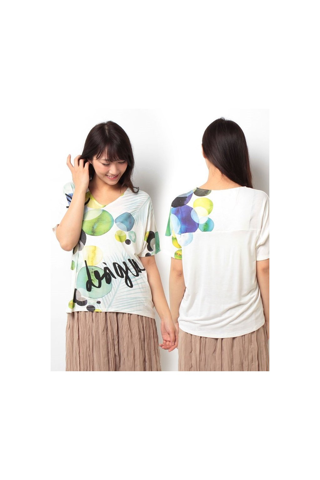 Dámské tričko Desigual 72T2WA6/1001