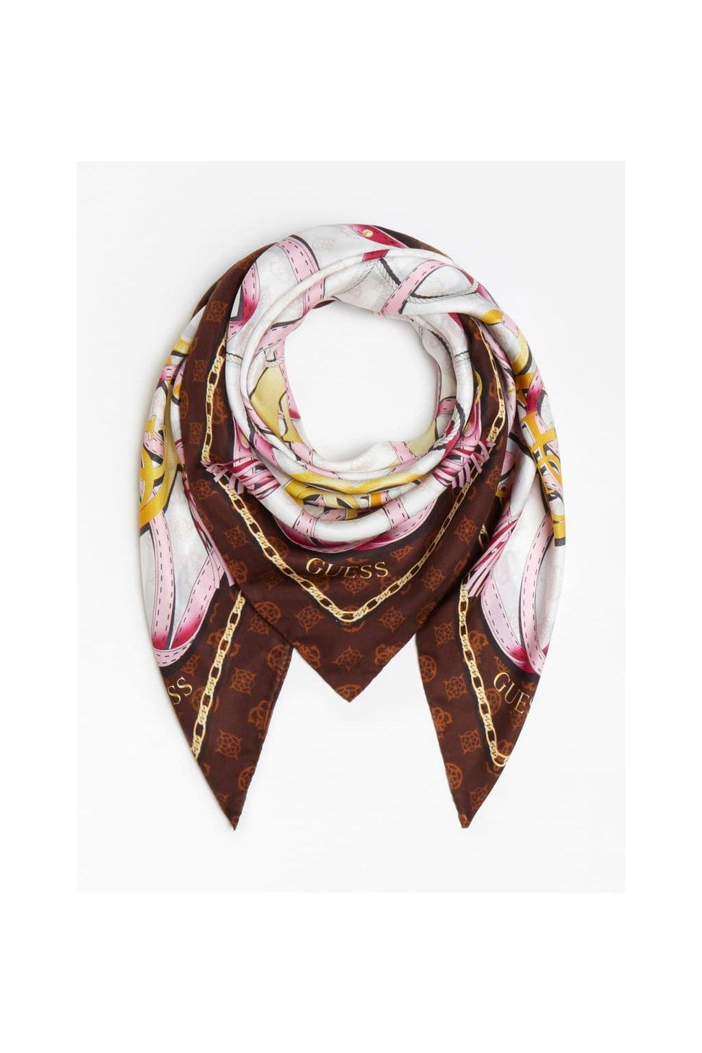 Dámský šátek Guess AW8407SIL90-ROS