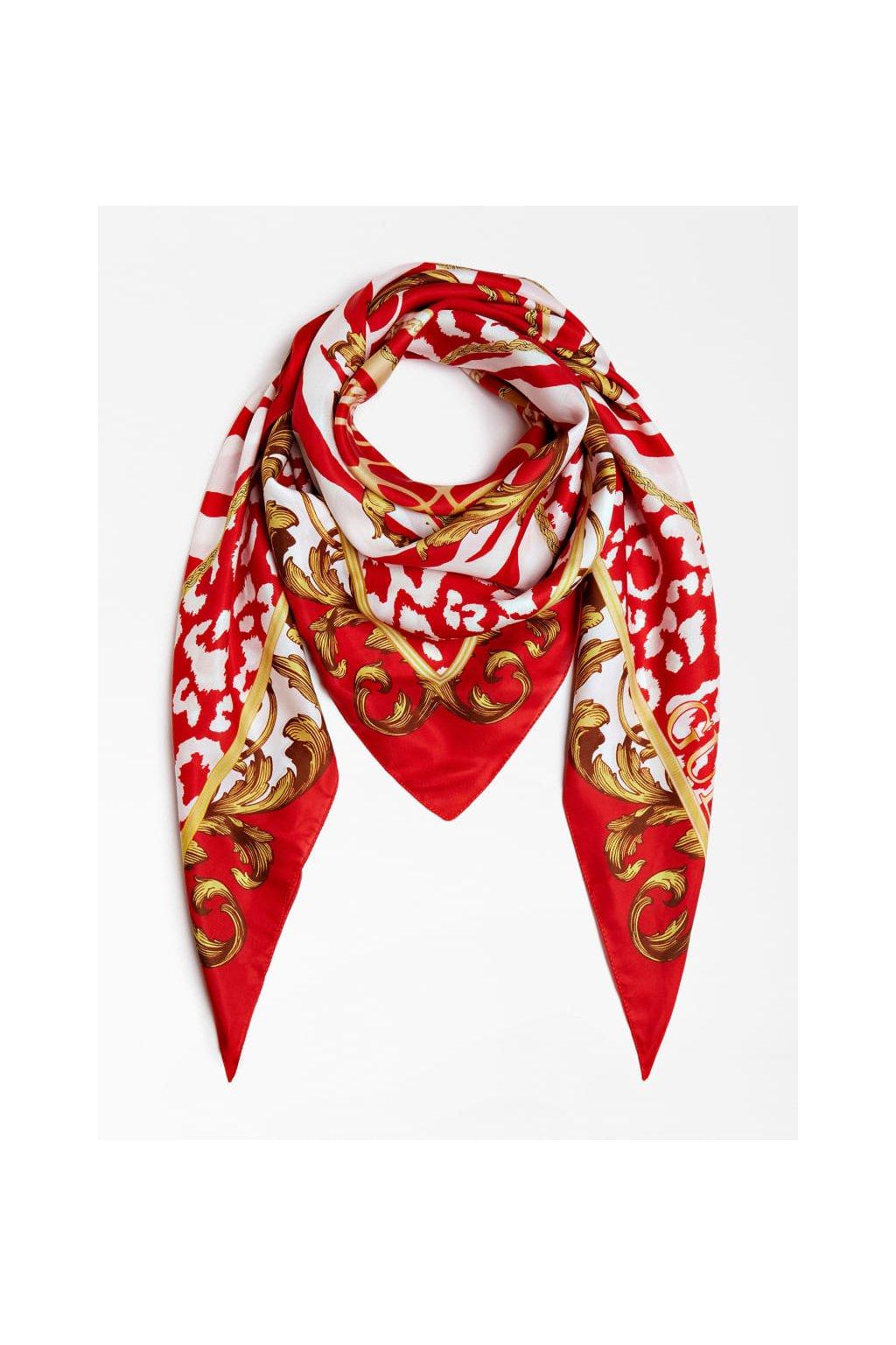 Dámský šátek Guess AW8409SIL20-RED