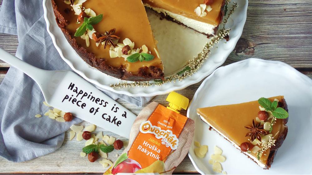 Ovocný dort z pyré Jablko, hruška, rakytník podle @marketa_v_troube