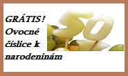 Ovocné číslice k narodeninám GRÁTIS
