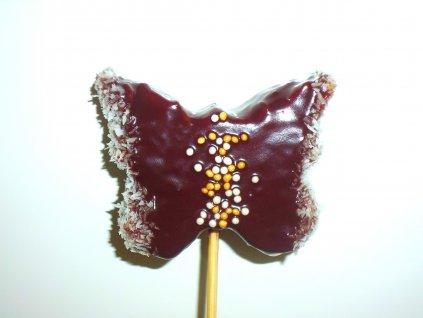 Motýlik z ananásu a čokolády