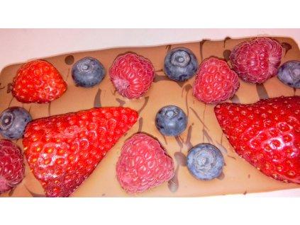 Ovocná čokoláda - jahody, maliny, čučoriedky