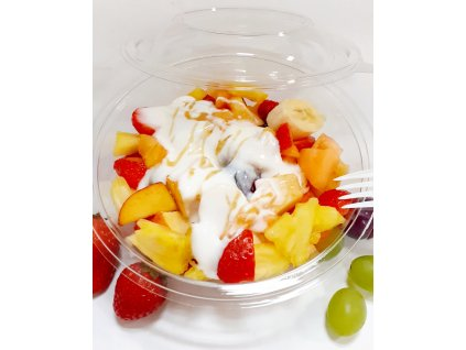 Ovocný šalát s medovým jogurtom