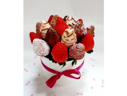 Jahodovo čokoládový box
