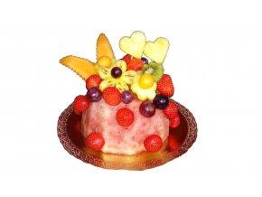 ovocná torta srdiečka