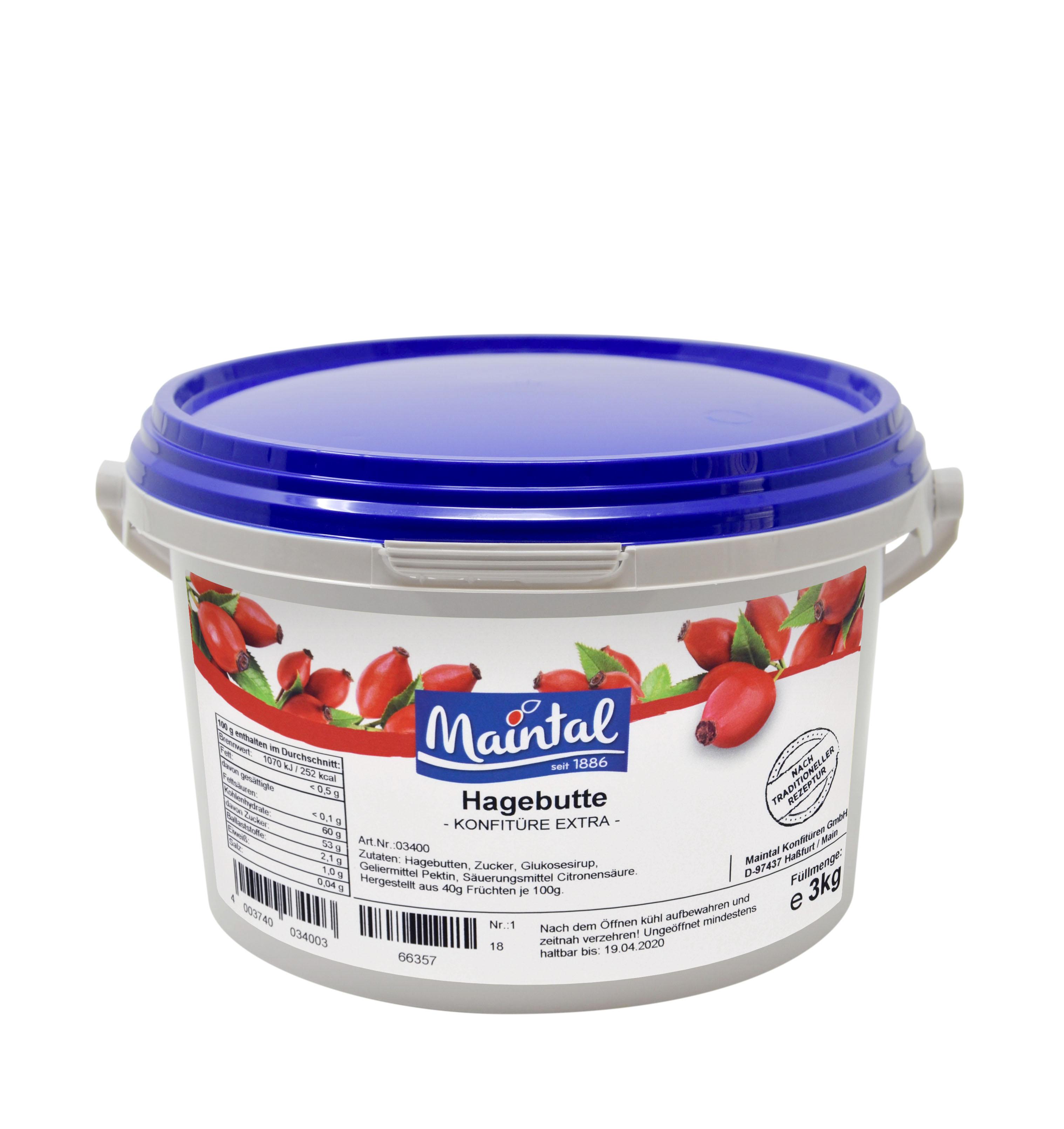 Šípkový džem - kbelík 3kg