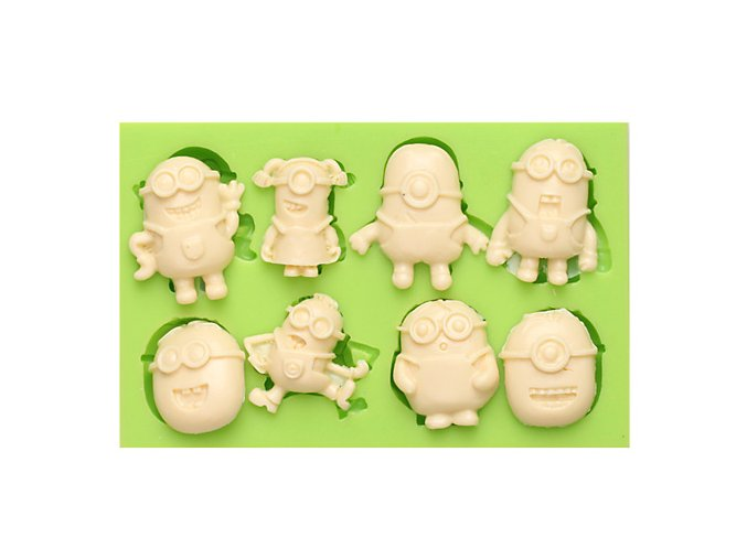 7ES 0852 Multifarious Minions Silicone Molds Fondant Moulds for cake decorating