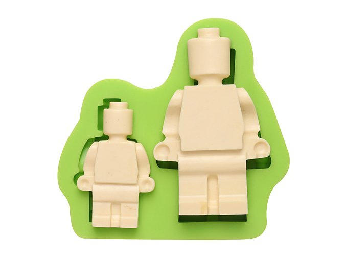 7ES 0838 2 Robots Silicone Molds Fondant Moulds for cake decorating