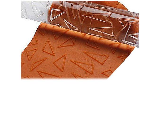 Akrylový strukturovací váleček triangl vzor