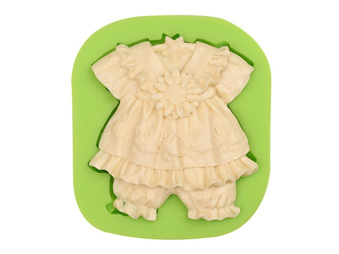 ES 1111 Baby Dress with Sunflowers Silicone Molds
