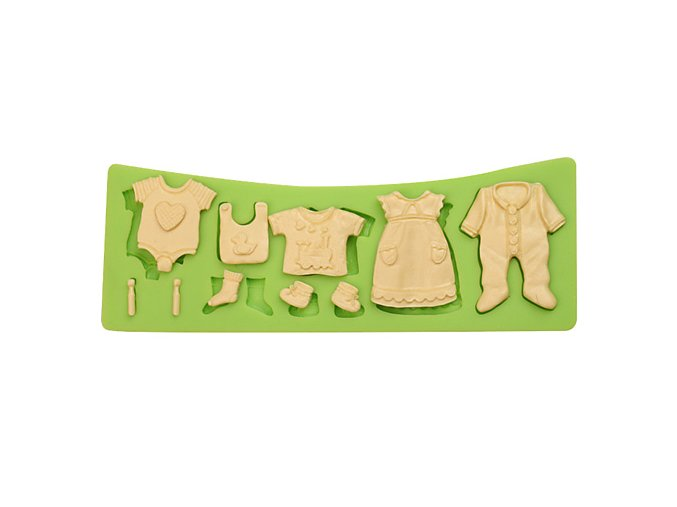ES 1118 Boy and girl Baby dress series Silicone Molds