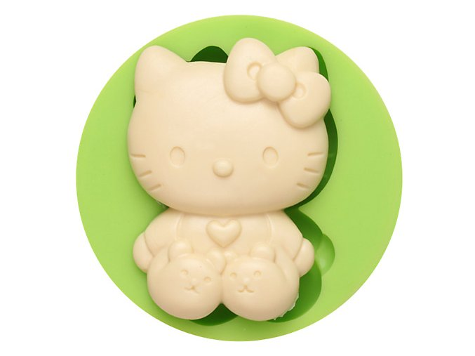 7ES 0801 Sitting Hello Kitty Fondant Silicone Molds for cake decorating