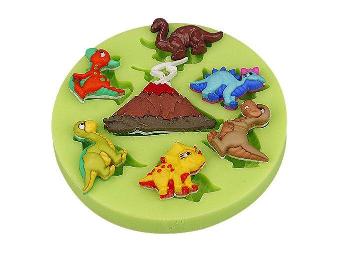 Silikonová formička Dinosauři