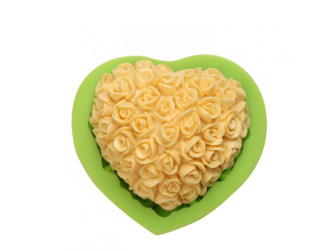 ES 1514 Love heart with flower Silicone Molds for Fondant Cake Decorating