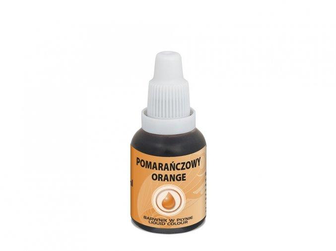 airbrush barva tekuta food colours orange 20 ml oranzova1