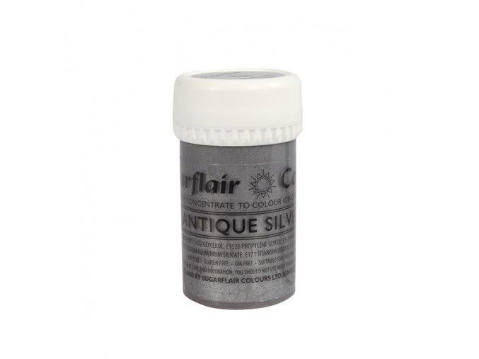 gelova barva perletova sugarflair 25 g antique silver