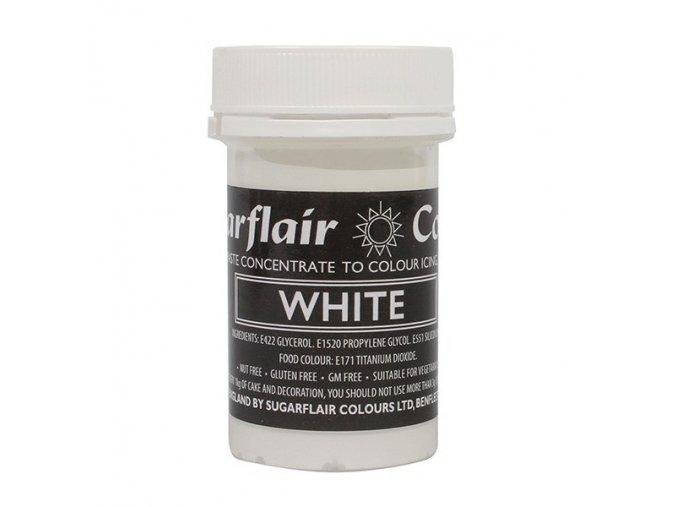pastelova gelova barva sugarflair 25 g white