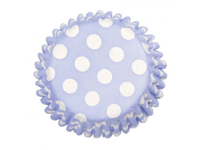 culpitt kosicky na muffiny modre s bilymi puntiky 54 ks