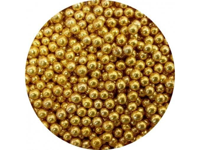 cukrove perly zlate male 50 g
