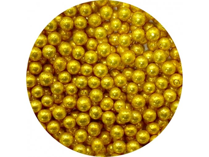cukrove perly zlate stredni 50 g
