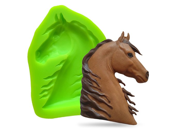 Silikonová formička hlava koně II