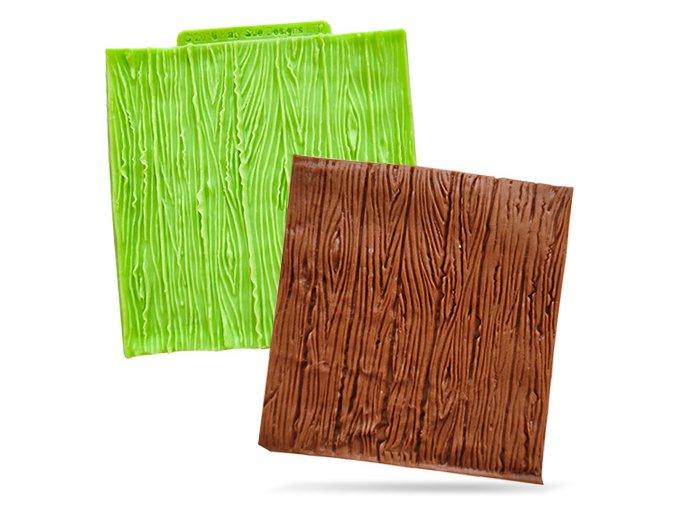 Silikonová formička reliéf dřeva