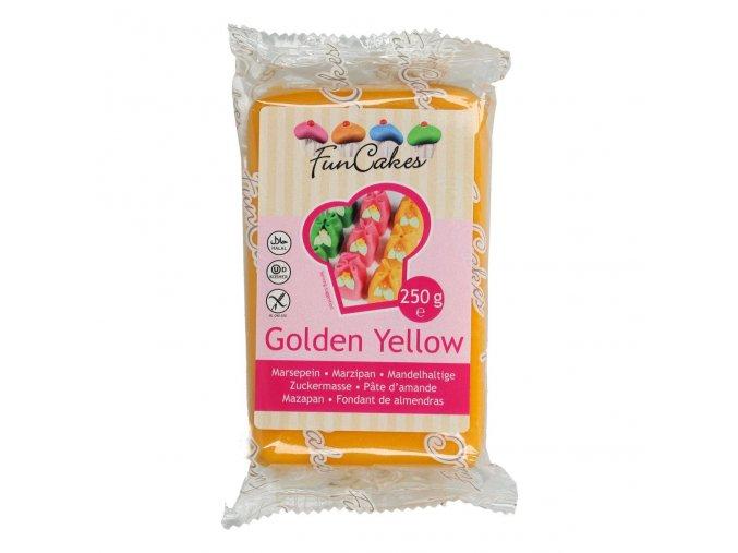 funcakes marcipan golden yellow 250 g