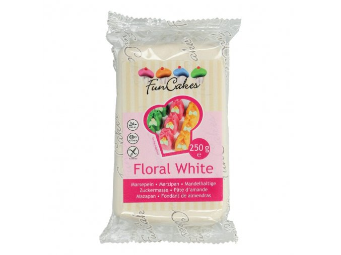 funcakes marcipan floral white 250 g