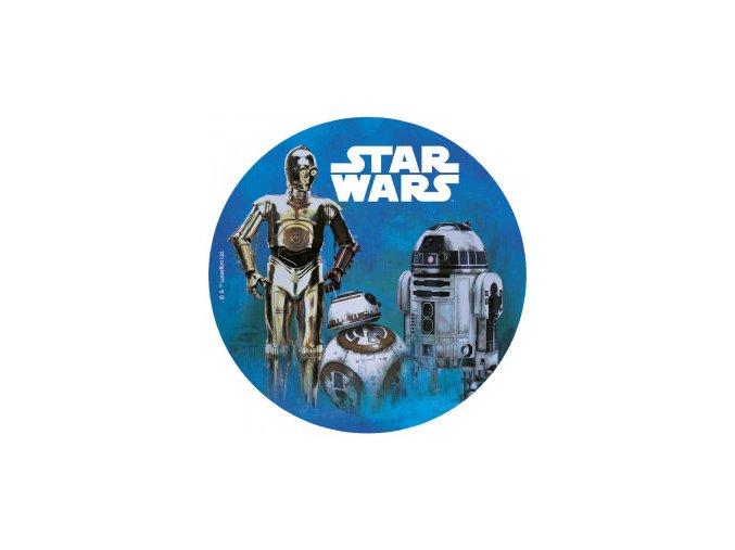 114365 12 DISCOS OBLEA 20CM STAR WARS FOIL 1