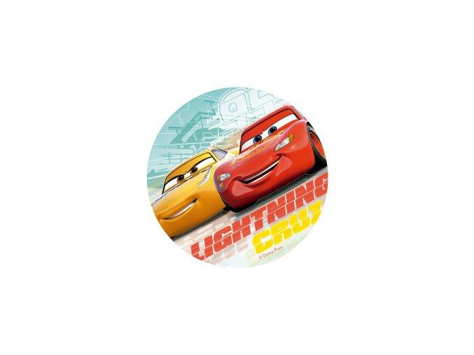 114379 6 DISCOS OBLEA CARS 20CM FOIL 3