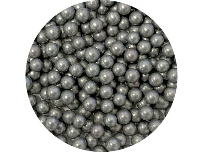 cukrove perly tmave stribrna 50 g 1