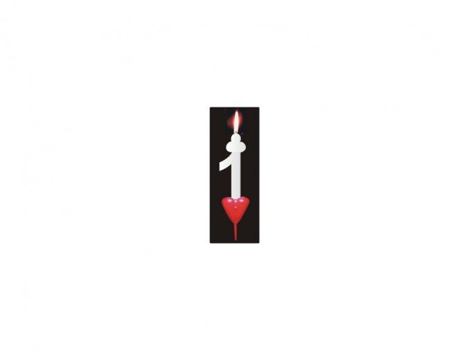 Dortová svíčka se srdíčkem - 1