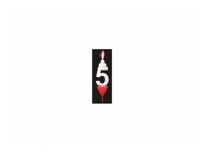Dortová svíčka se srdíčkem - 5