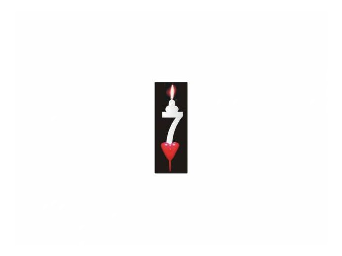 Dortová svíčka se srdíčkem - 7