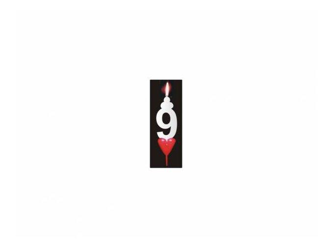 Dortová svíčka se srdíčkem - 9