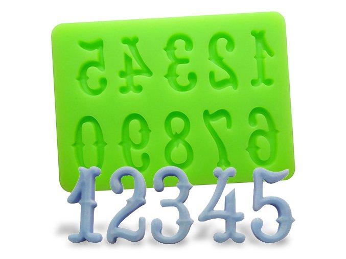 Silikonová formička číslice
