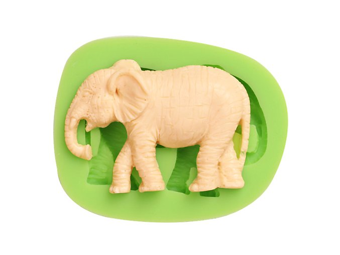 7ES 0020 Elephant Silicone Molds Fondant Mould for cake decorating