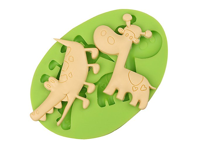 7ES 0041 Crocodile Giraffe Silicone Molds Fondant Mould for cake decorating