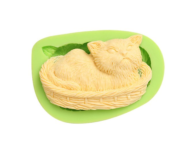 7ES 0050 Animal Themed Angry Cat Silicone Molds Fondant Mould for cake decorating