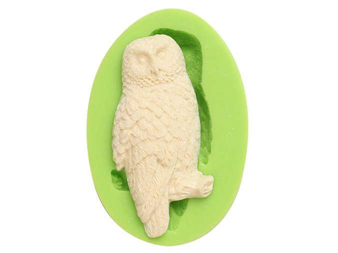 7ES 0104 Owl Silicone Molds Fondant Mould for cake decorating