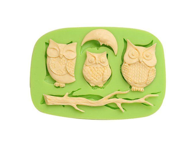 7ES 0108 Night Owls Series Silicone Molds Fondant Mould for cake decorating