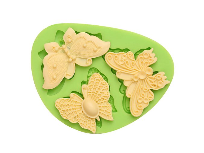 7ES 0205 Butterflies Series Silicone Molds Fondant Mould for cake decorating