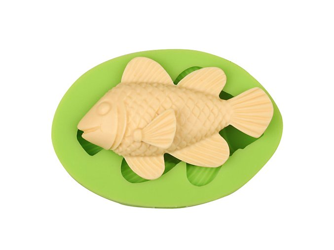 7ES 0401 Fish Silicone Molds Fondant Mould for cake decorating